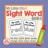 Color Word Little Books: red yellow blue purple orange gre