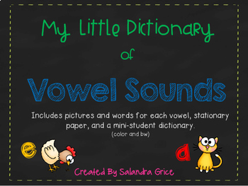 My Little Dictionary-Vowel Sounds