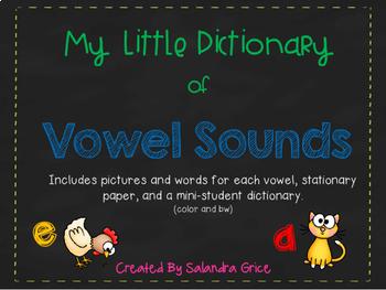 My Little Dictionary-Vowel Sounds