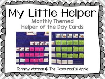 My Little Helper-Editable Themed Helper of the Day Cards