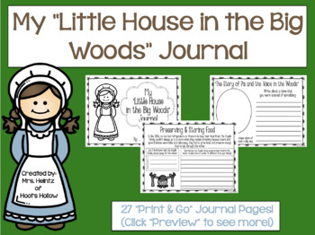 """My """"Little House in the Big Woods"""" Journal [Laura Ingalls Wilder]"""