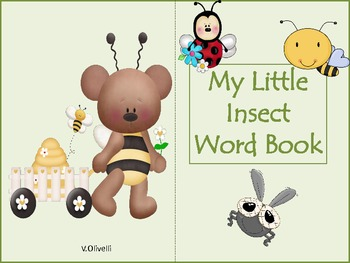 ESL Activity: My Little Insect Word Book and ELL Newcomers