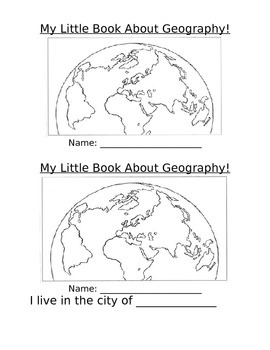 My Little Oregon Geography Booklet