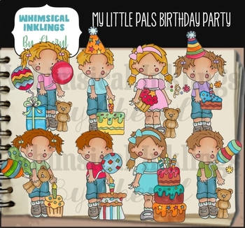 My Little Pals Birthday Clipart Collection
