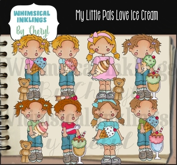My Little Pals Love Ice Cream Clipart Collection