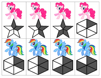 My Little Pony Fractions Card Game