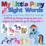 My Little Pony Fry Words Game! Contains the First 300 FRY Words