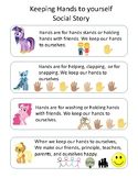 My Little Pony - Keep Your Hands to Yourself Social Story