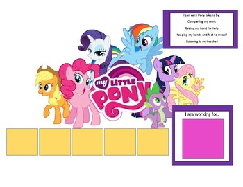 My Little Pony Token Board