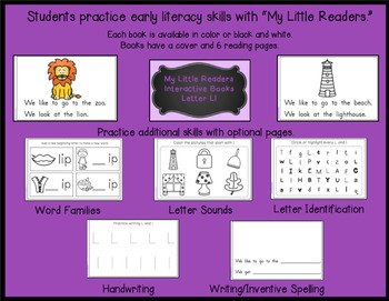 My Little Readers - Interactive Books -Emergent Readers Bundle 3