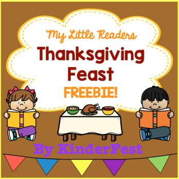 My Little Readers - Thanksgiving Feast - FREEBIE