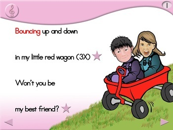My Little Red Wagon - Animated Step-by-Step Song - Regular