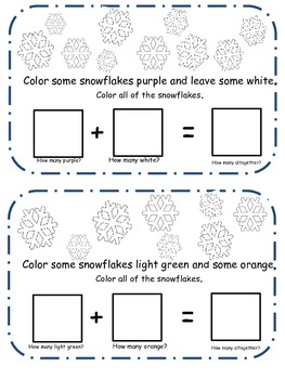 My Little Snowflake Addition Book