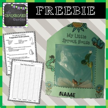My Little Sprout House Printable by The Chalkboard Garden TpT