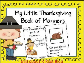 My Little Thanksgiving Book of Manners