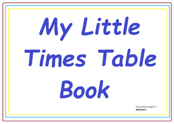 My Little Times Table Book