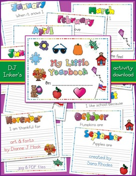 My Little Yearbook Printable Activity Download