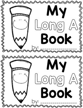 My Long A {CVCE} Book