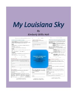 My Louisiana Sky Complete Literature and Grammar Unit