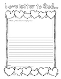 My Love Letter to God Writing Activity for all Elementary Grades