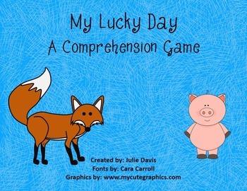 My Lucky Day Comprehension Game Kindergarten