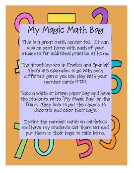 "My ""Magic"" Math Bag - Meets Common Core Standards (bilingual)"
