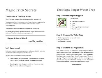 My Magical Summer: Teaching science through simple magic tricks