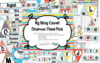 Many Colored Classroom Theme Pack