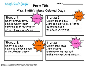 My Many Colored Days: A Poetry/Art Project!