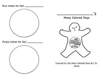 My Many Colored Days Feelings Booklet