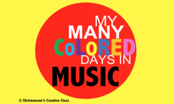 My Many Colored Days in Music