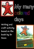 My Many Colored Days writing and craft activity