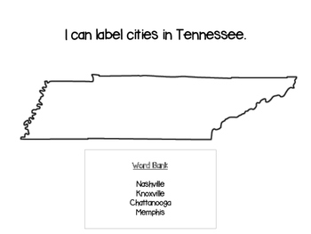 My Map of Tennessee Book