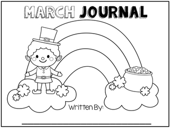 My March Journal - Journal Prompts for Young Writers
