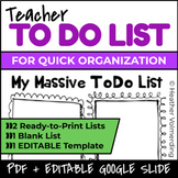 My Massive To Do List.EDITABLE
