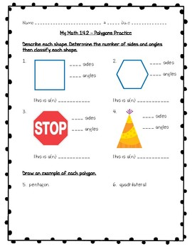 My Math - 3rd Grade - Chapter 14 - Geometry Worksheets