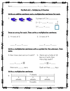 My Math - 3rd Grade - Chapter 6 Understand Multiplication ...