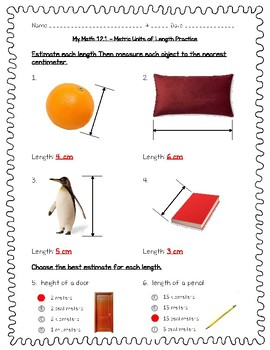 My Math 4th Grade Chapter 12 - 12.1 - Lesson 1 - Metric Units of Length