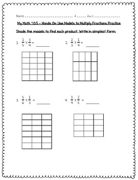 My Math - 5th Grade - Chapter 10 - Multiply and Divide Fractions