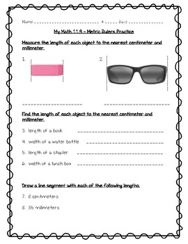 My Math - 5th Grade - Chapter 11 - Measurement Worksheets