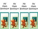 My Math Bookmark