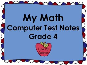My Math Computer Test Notes (4th Grade)