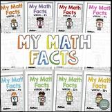 Math Facts Kids Theme (Multiplication Fact Intervention) TEKS 3.4E 3.4F (Color)
