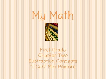 """My Math First Grade - """"I Can"""" Statements Chapter 2"""