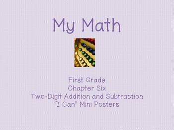 "My Math First Grade - ""I Can"" Statements Chapter 6"