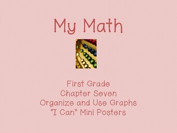 "My Math First Grade - ""I Can"" Statements Chapter 7"