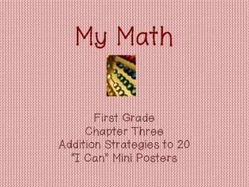 """My Math First Grade - """"I Can"""" Statements  Chapter 3"""