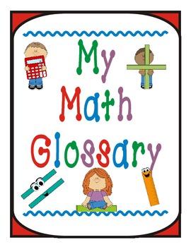 My Math Glossary by Nita Marie