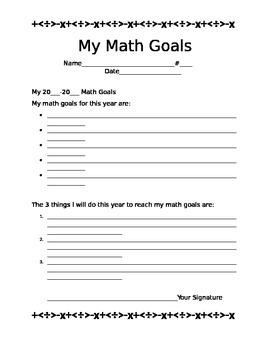 My Math Goals