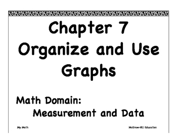 """My Math First Grade """"I Can"""" Posters Chapter 7"""